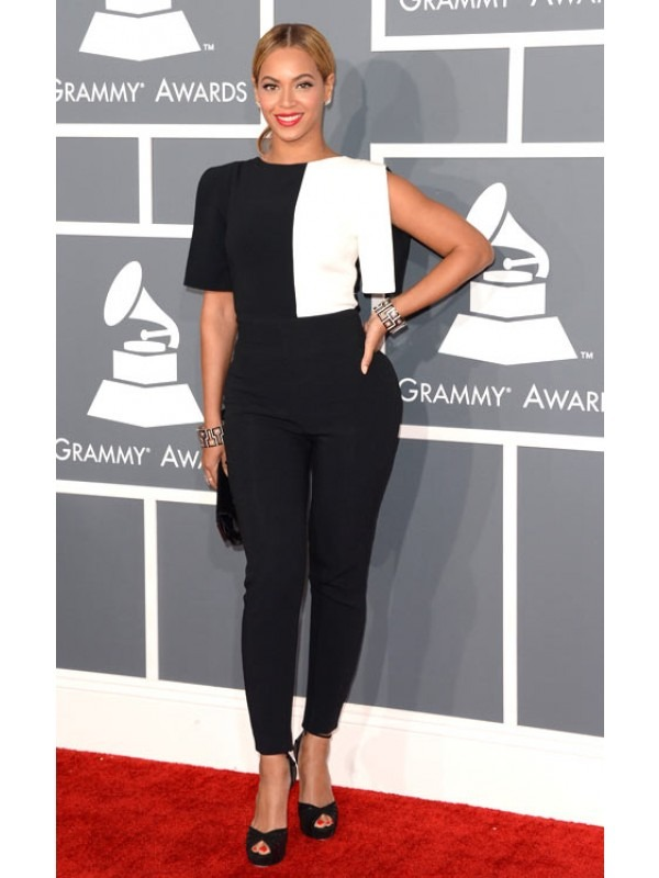 Celeb Cut Out 3/4 Sleeve Jumpsuit