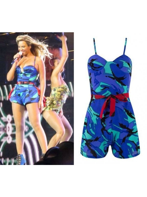 Celebrity Camouflage Print Playsuit