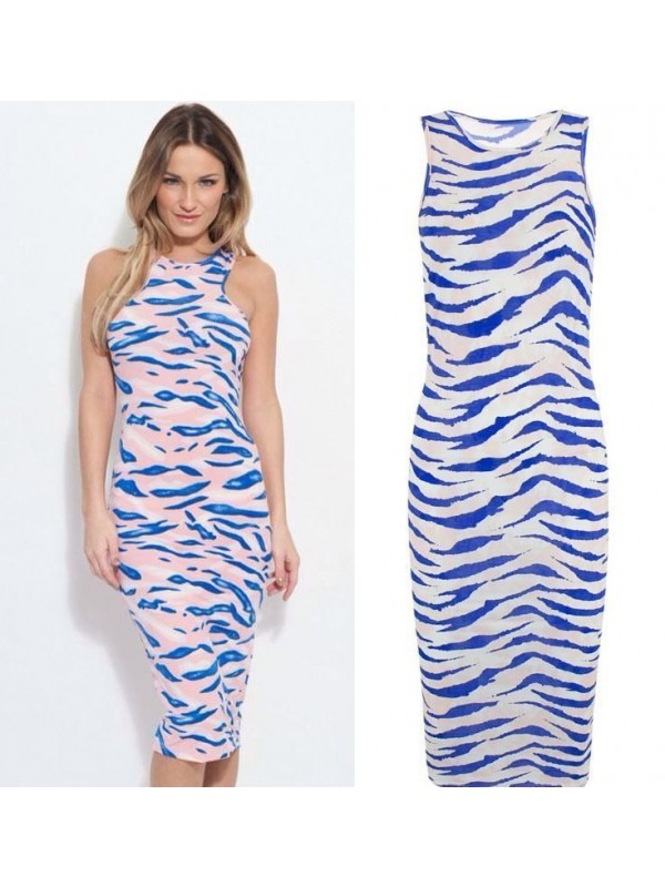Celebrity Tie Dye Print Midi Dress