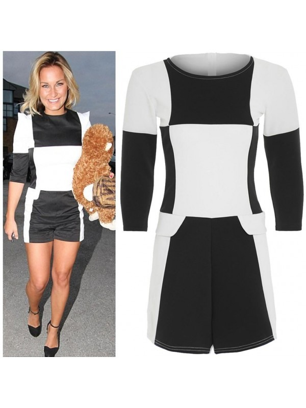 Celebrity Inspired Monochrome Playsuit