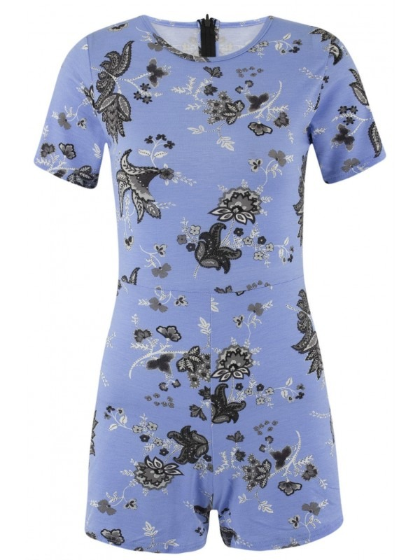 Celebrity Style Floral Print Playsuit