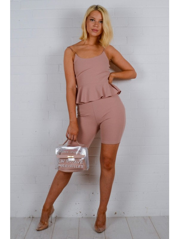 Frill Top & Cycling Shorts Co-ord