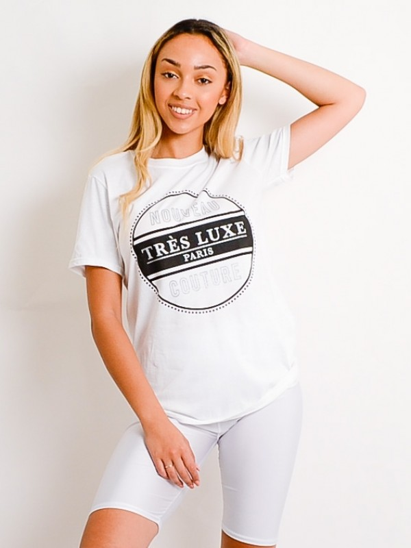 Tres Luxe Print T-Shirt
