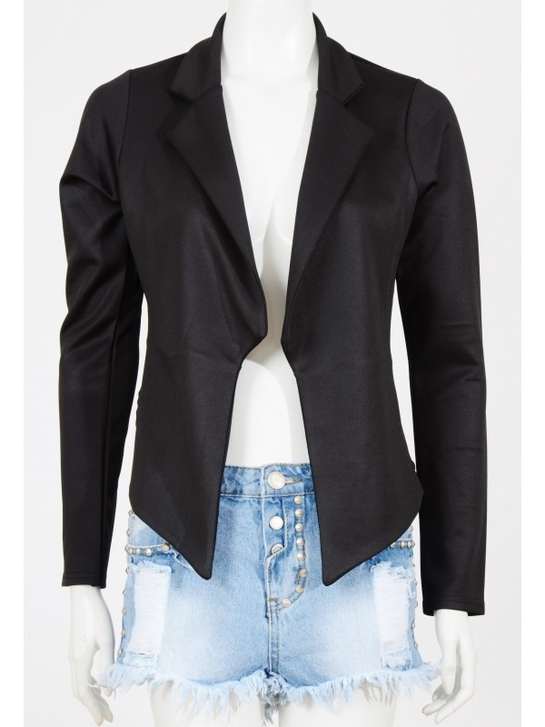 Waterfall Chiffon Back Blazer