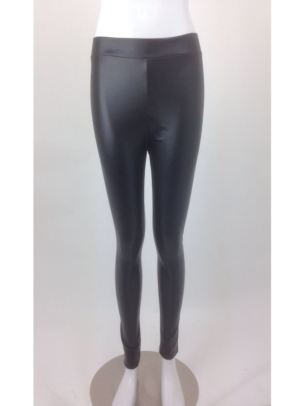 Ex-Chain Store High Waist Wet Look Legging