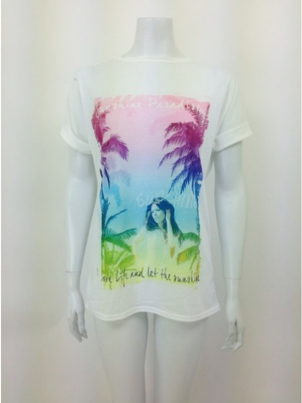 Paradise Print T Shirt