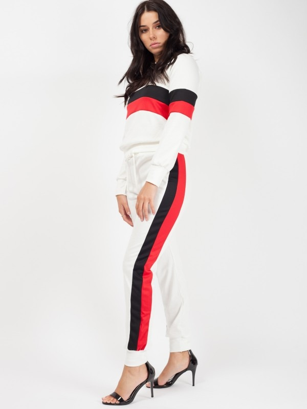Contrast Panelled Loungewear Co-ord