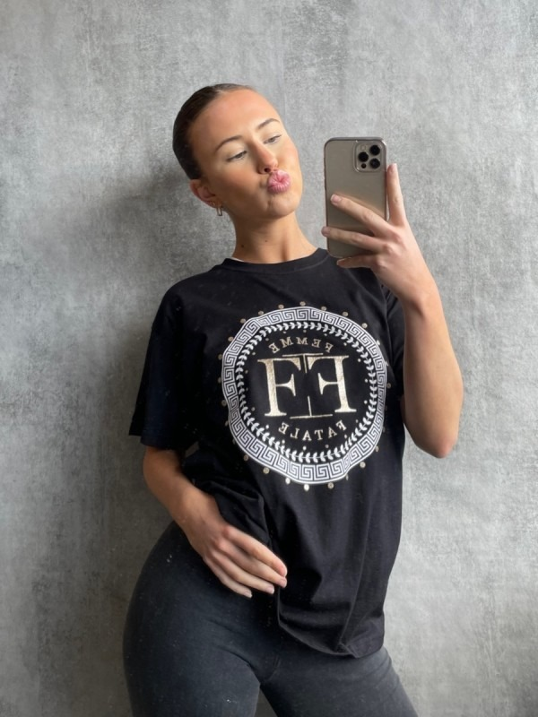 Femme Fatale Graphic Printed T-Shirt