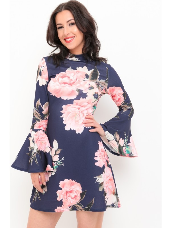 Blossom Floral Print Fit And Flare Dress