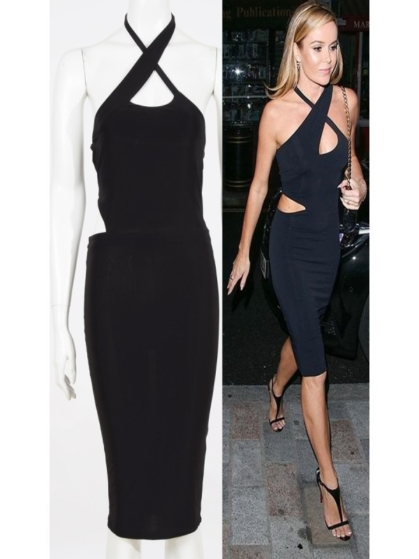 Celebrity Amanda Inspired Cut Out Midi Dress