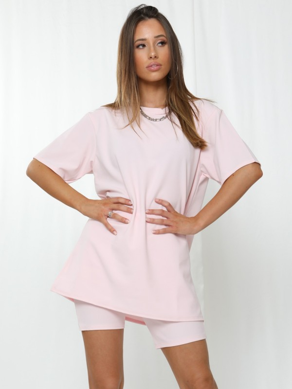 Oversized T-Shirt & Shorts Co-ord