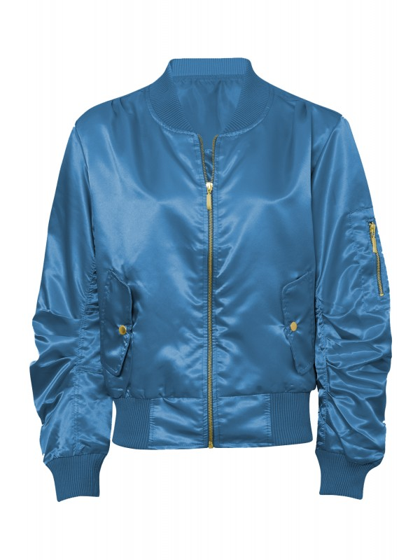 Lightweight Satin Shell Bomber Jacket