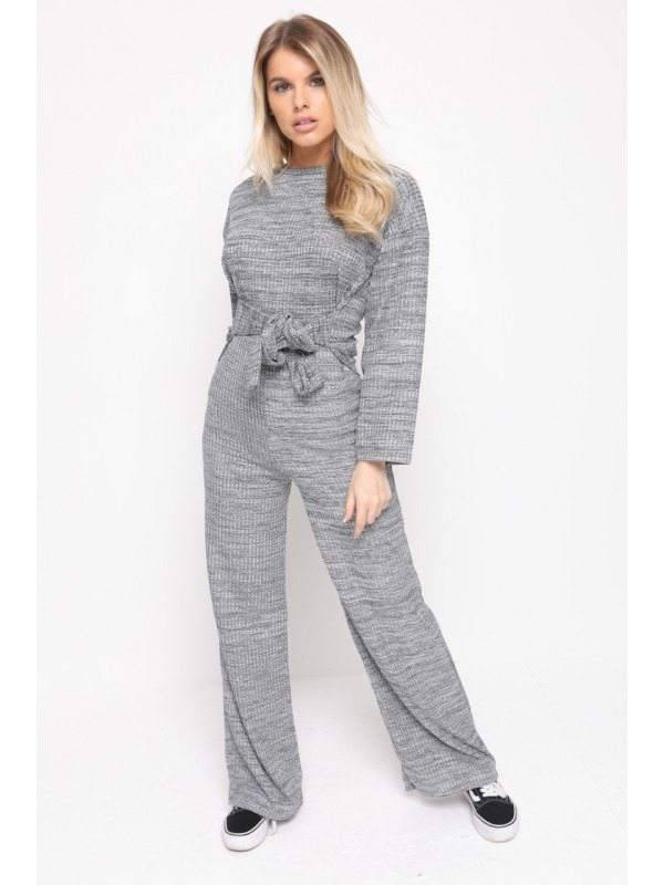 Ribbed Thin Knit Jumpsuit