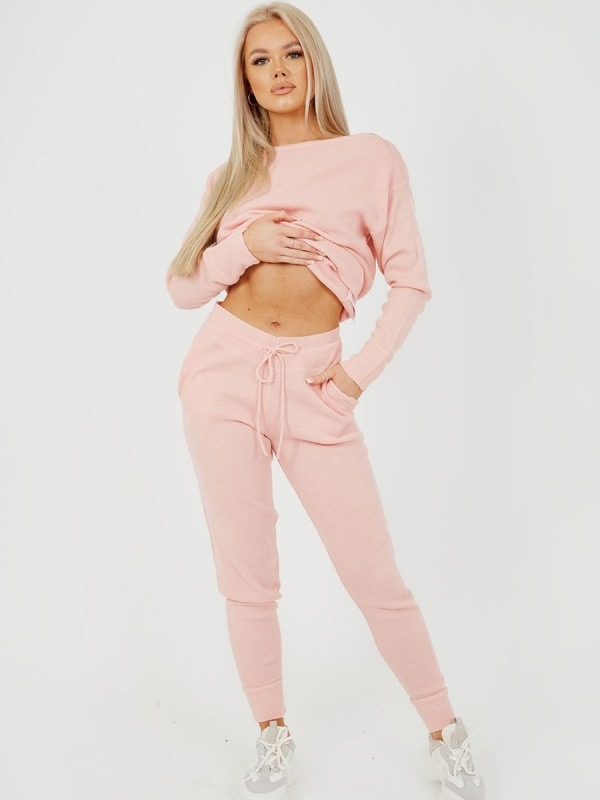 Scoop Neck Knitted Lounge Co-ord