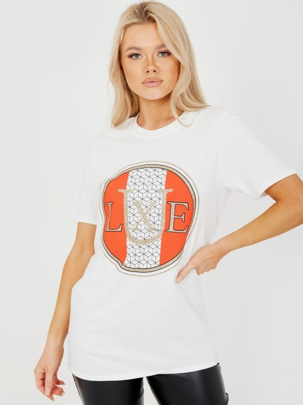 Glitter LUXE Graphic Printed T-Shirt