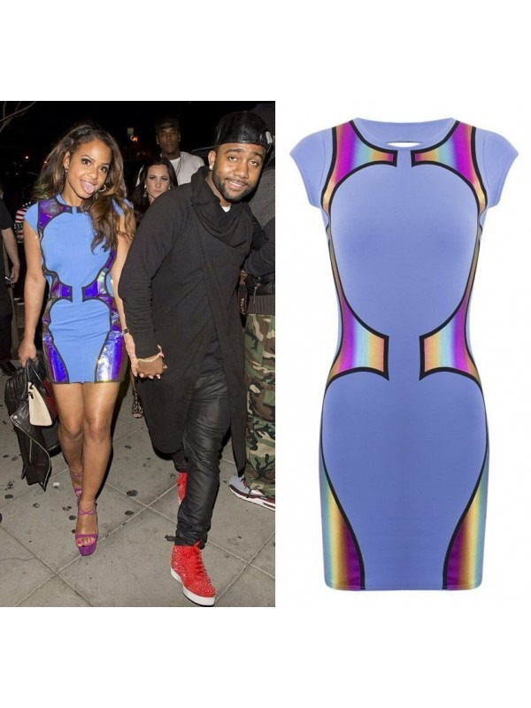 Celeb Multicolour Foil Bodycon Dress