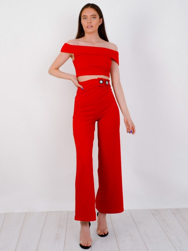 Bardot Top & Button Trouser Co-ord