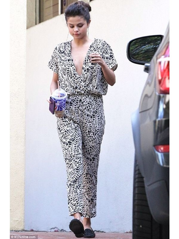 Celebrity Monochrome Print Jumpsuit