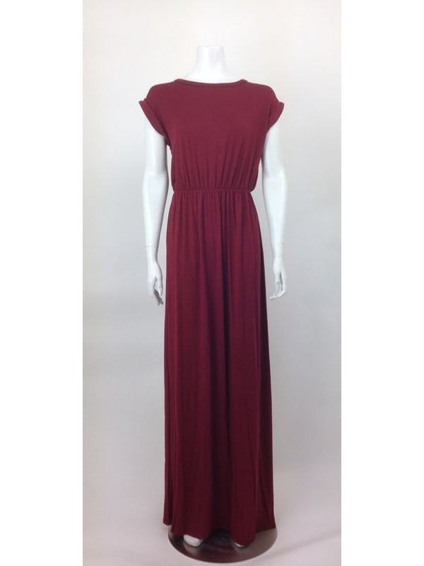 Cap Sleeves Stretchable Maxi