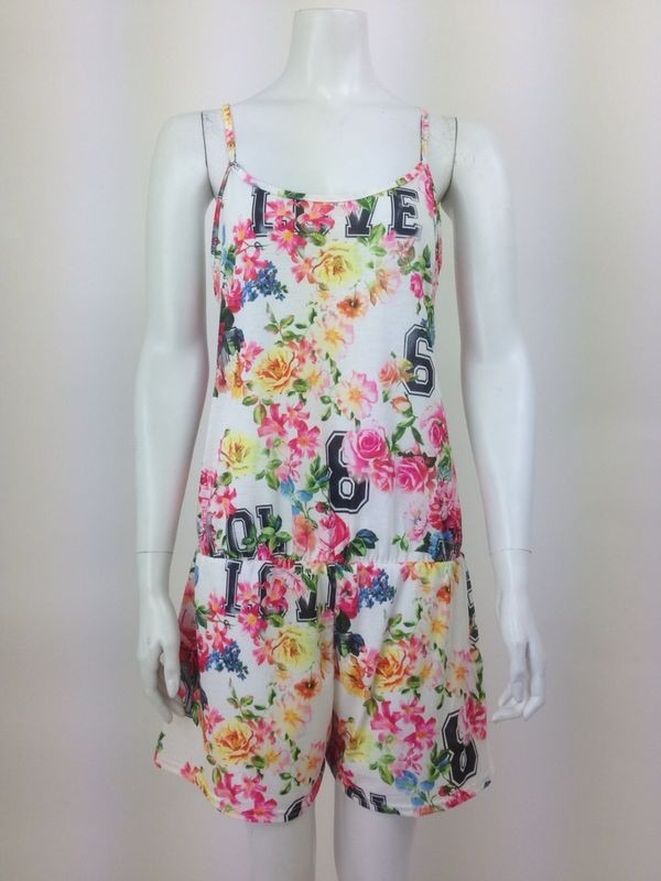 Floral Print Racer Back Playsuit