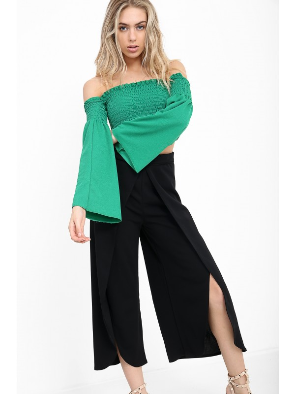 Wrap Over Ring Culotte Trouser