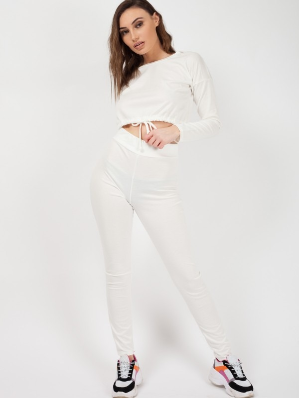 Drawstring Waist Crop Top & Trouser Co-ord