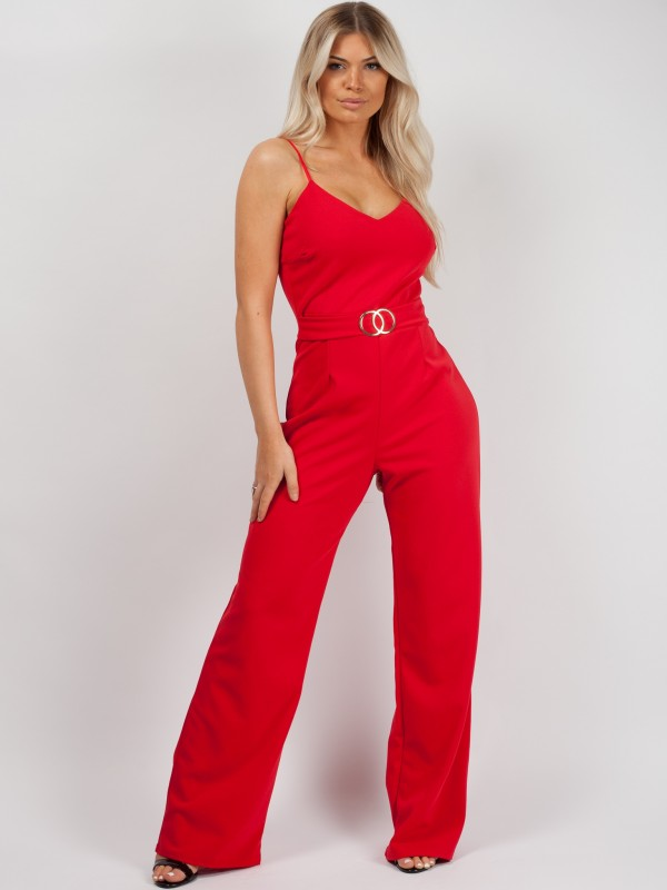 Double Circle Belted Jumpsuit