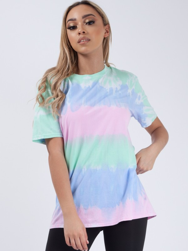 Striped Tie Dye T-Shirt