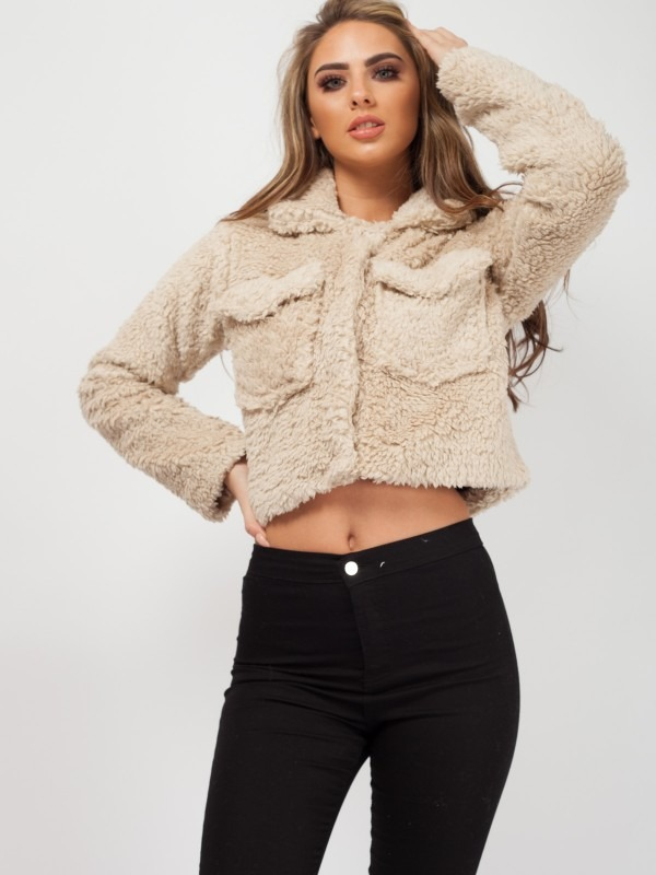 Emily Borg Popper Button Cropped Jacket