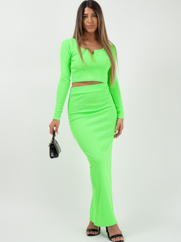 Bandage Crop Top & Skirt Co-ord