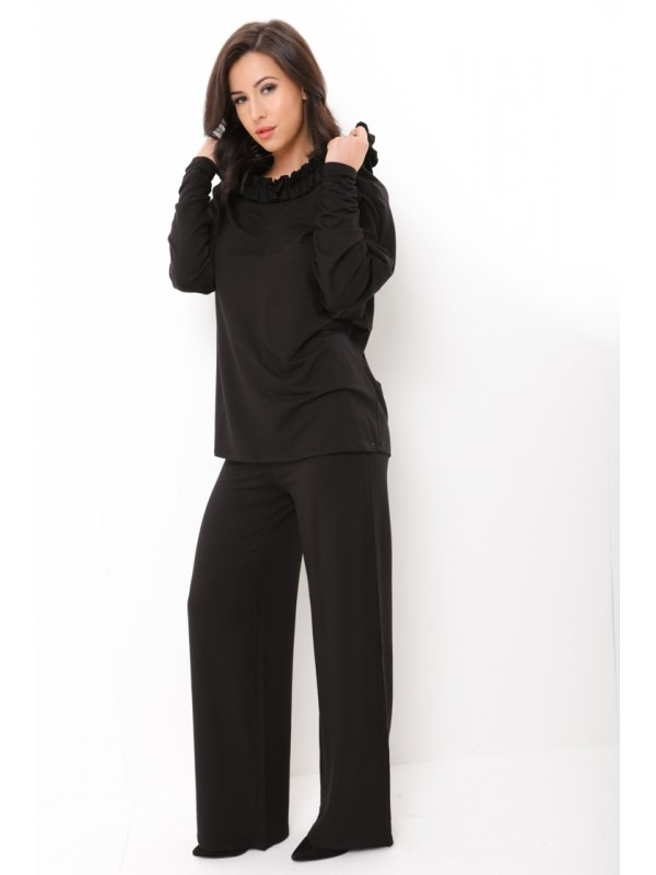 Oversized Frill Neck Hooded Loungewear