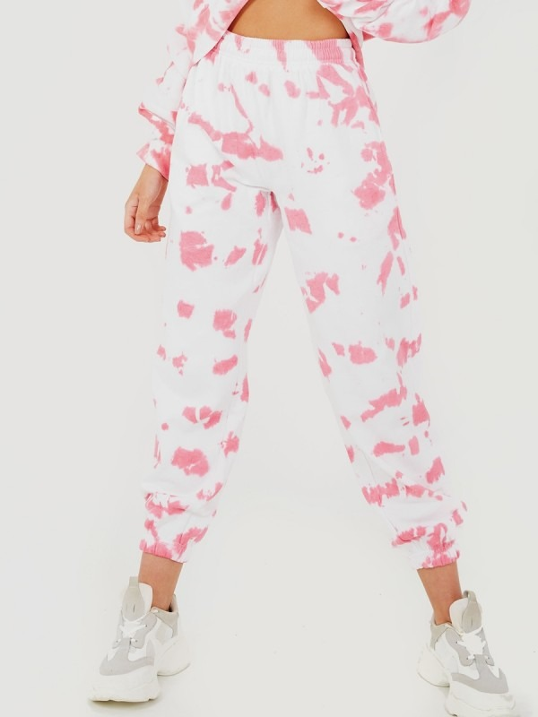 Tie-Dye Oversized Fleece Joggers