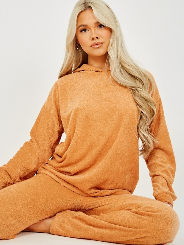 Towelling Hooded Top & Trouser Co-ord