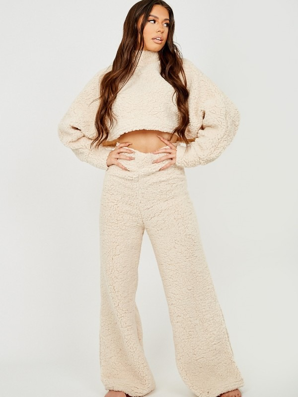 Teddy Crop Top & Trouser Co-ord