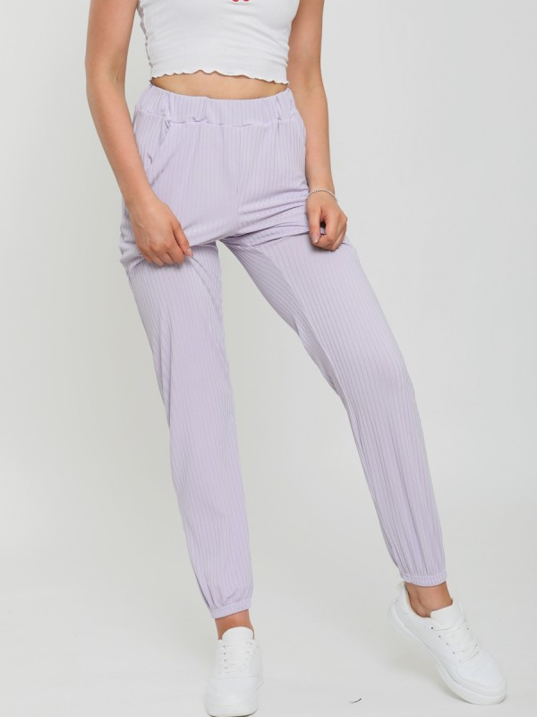Ribbed Cuffed Jogger Trousers