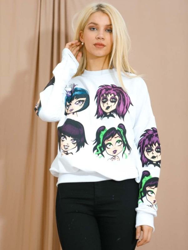 Gothic Graphic Sweatshirt Jumper