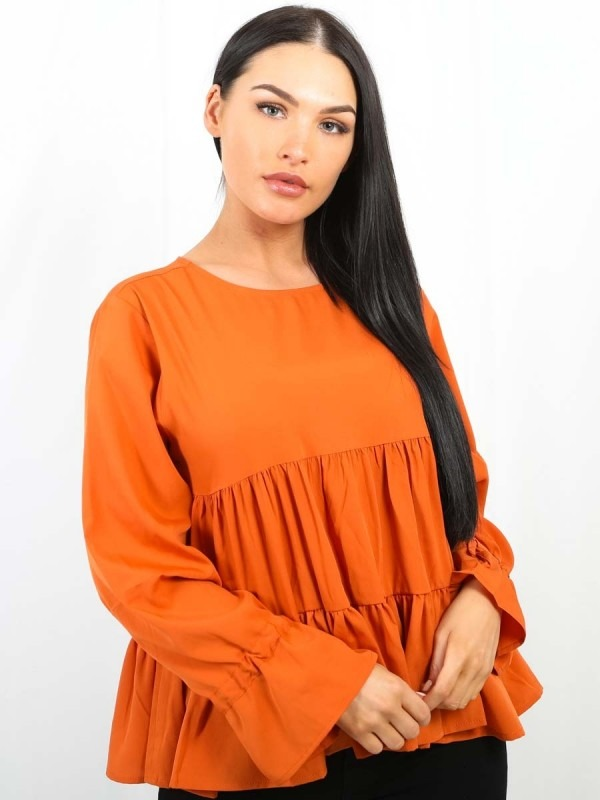 Frill Tiered Smock Top