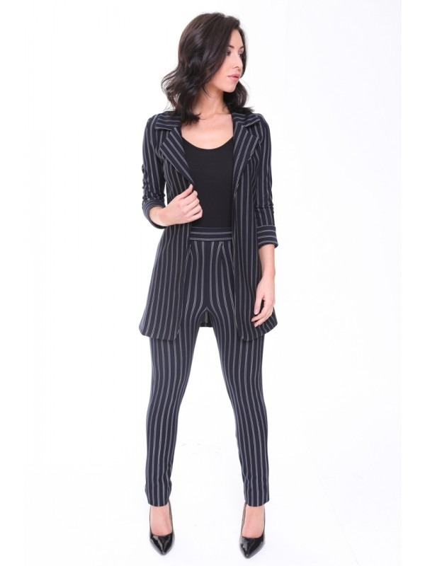 Pinstripe Slim Fit Blazer