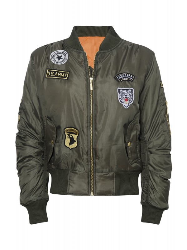 Celebrity Badged Classic Padded Bomber Jacket