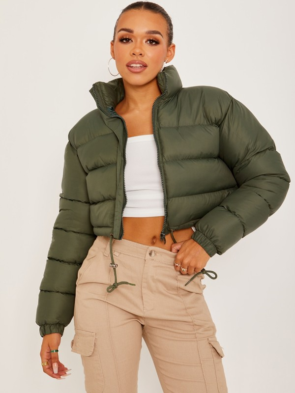 New Cropped Puffer Jacket