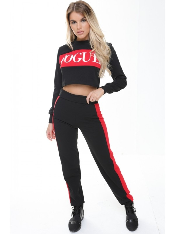 Vogue Crop Top And Trouser Loungewear