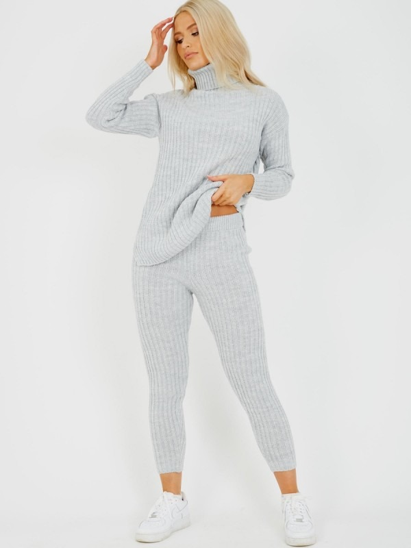 New Roll Neck Knitted Top & Trouser Co-ord
