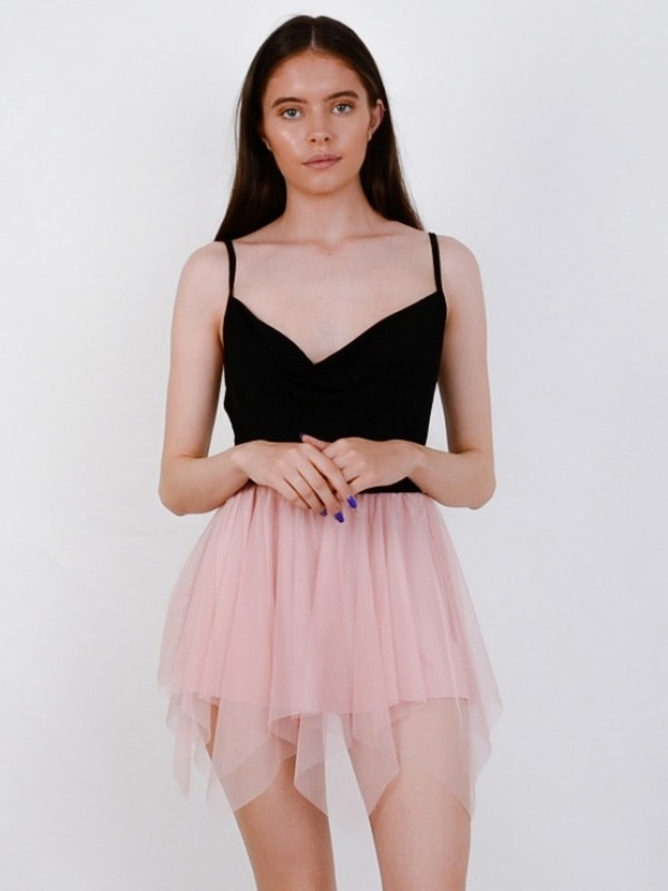 Layered Mesh Mini Skirt