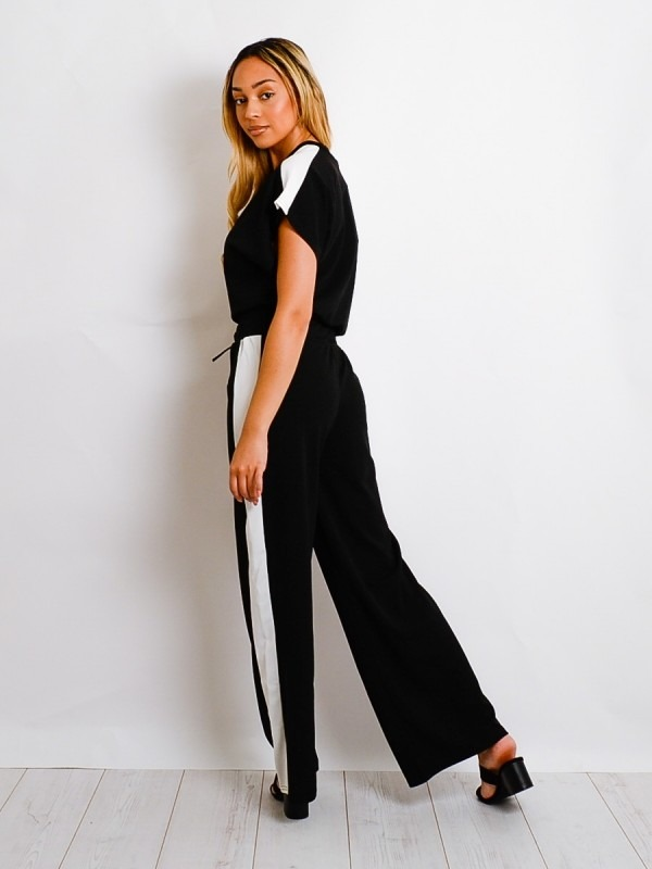 Contrast Panel Boxy Drawstring Co-ord