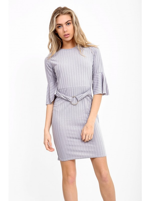 Ring Front Ribbed Bodycon Dress