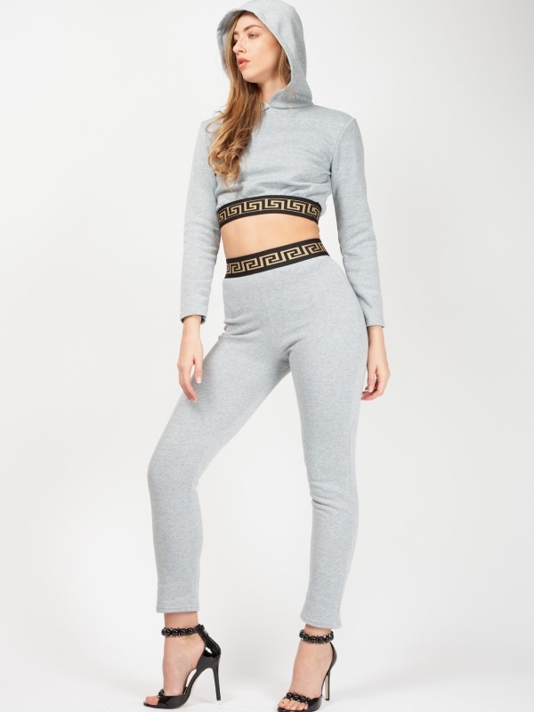 Patterned Trim Fleece Co-ord