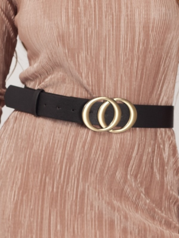 Big Double Circle Buckle Belt