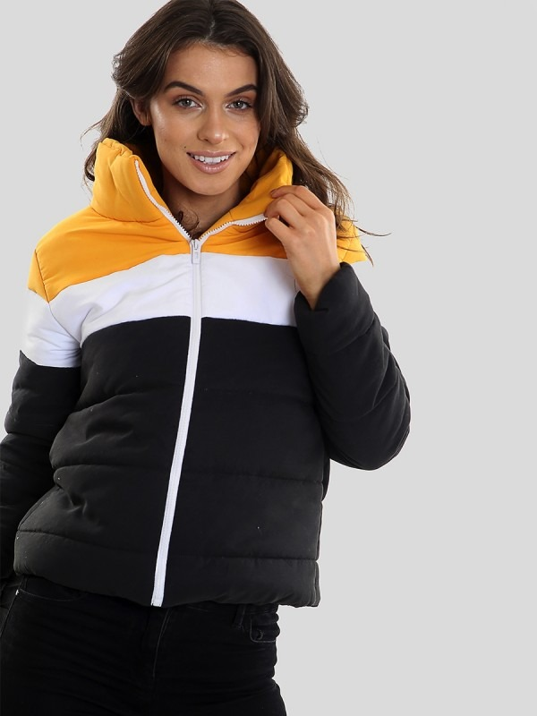 Contrast Colour Block Padded Jacket