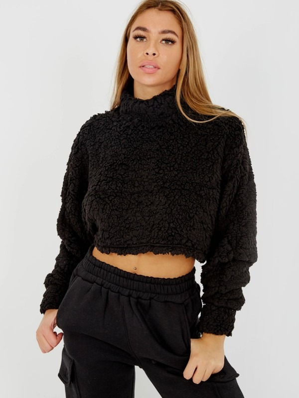 Teddy Bear Oversized Crop Top