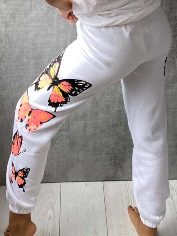 Butterfly Graphic Oversized Fleece Joggers